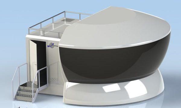 Polyester dome voor simulatoren en scherm projectie. polyester reparatie