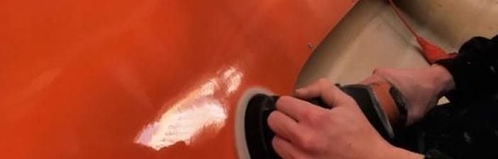 polyester poetsen
