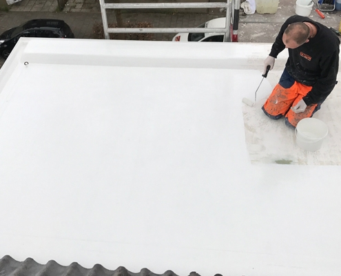 Polyester-dak-reparatie