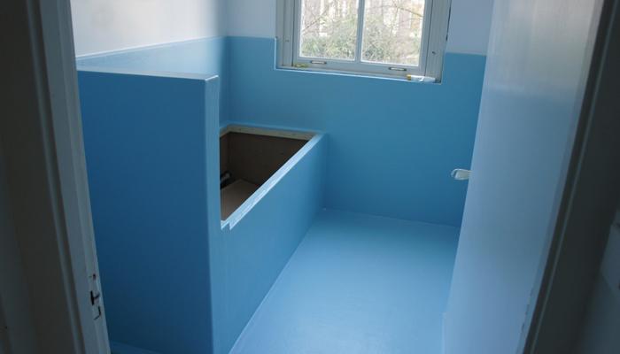 badkamer van polyester op maat