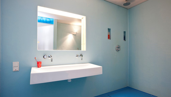 polyester badkamer onderhoudsvrij