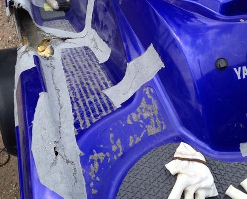 polyester waterscooter repareren