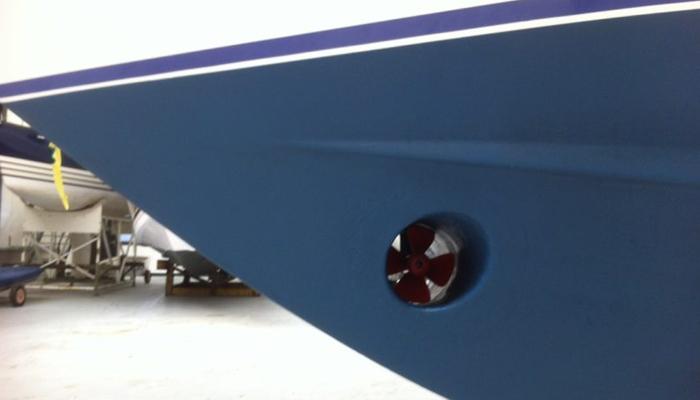 antifpuling polyester boot met boegschroef